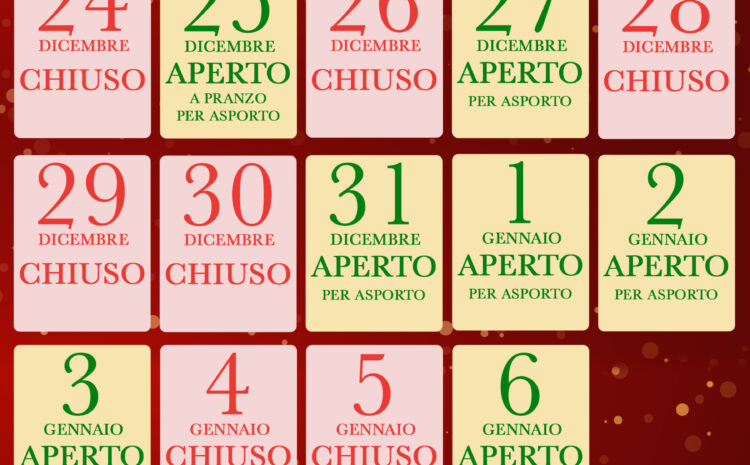 Calendario Aperture Locale